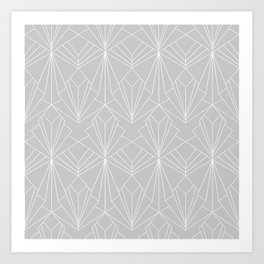 Art Deco on Grey Art Print