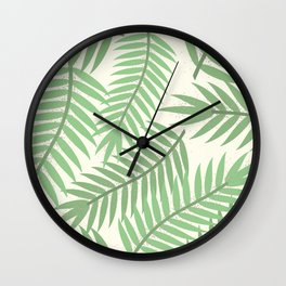 Vintage Florida Palm Fronds 2 Wall Clock