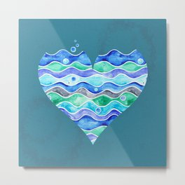 A Sea of Love (blue) Metal Print