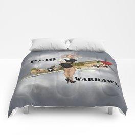 P-40 Pin Up Art Comforters