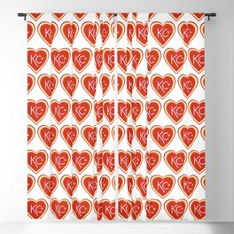 KC Love Red & Yellow Blackout Curtain