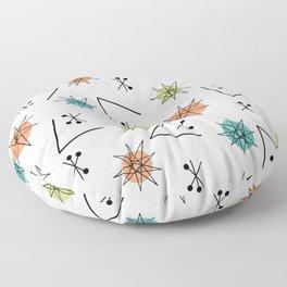 Mid Century Modern Sputnik Starburst Planets 1 Floor Pillow