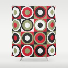 Lucky Strike retro circles Shower Curtain