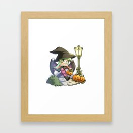 Halloween Morrigan Framed Art Print