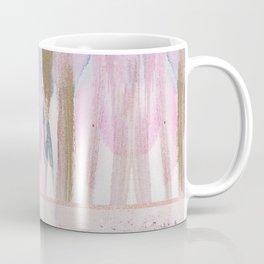 Rose Blush, Dreamy Pink And Blue Modern Abstract Art Coffee Mug