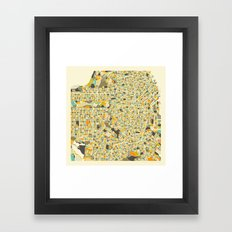 San Francisco Map Framed Art Print