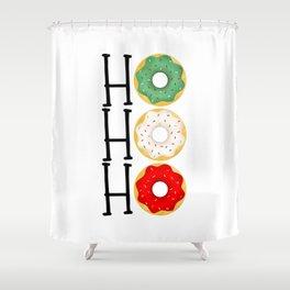 Ho Ho Ho - Holiday Donuts Shower Curtain