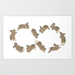 Happy infinity Art Print