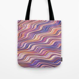 PINCURL waves of pink purple tan abstract design Tote Bag