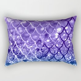 Mermaid Scales on Unicorn Girls Glitter #19 #shiny #decor #art #society6 Rectangular Pillow