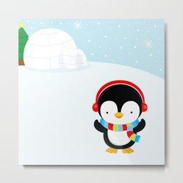 Cute penguin boy #2 Metal Print
