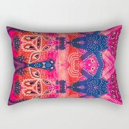 Coral Pink Boho Rectangular Pillow