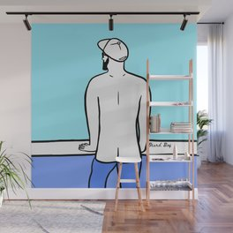 Beard Boy: Ble Horizon Wall Mural