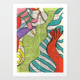 Colorful Doodle Art Print