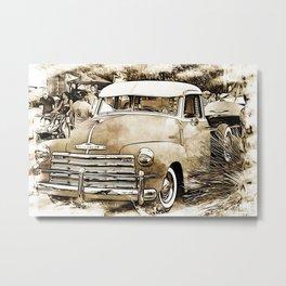 1950's Vintage Pick up Truck Metal Print