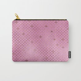 Fuchsia Mermaid Scales Carry-All Pouch