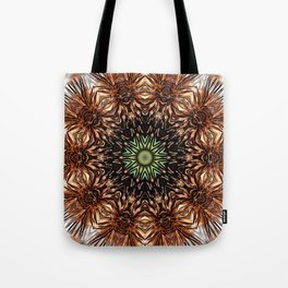 Nature mandala - Autumn coneflower seedhead Tote Bag