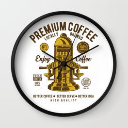 Classic Coffee Maker - Locally Brewed Wall Clock