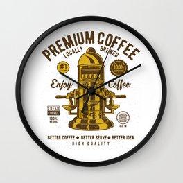 Classic Coffee Maker - Locally Brewed Wall Clock