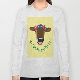 Spring Cow Long Sleeve T-shirt