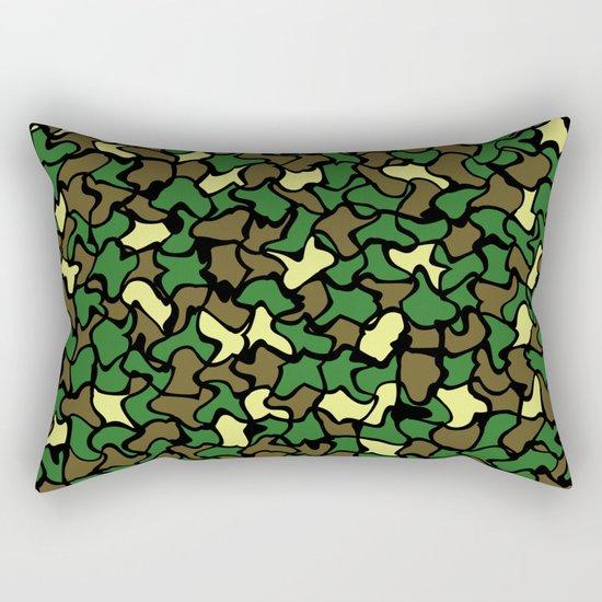Camouflage Wobble Tile Pattern Rectangular Pillow