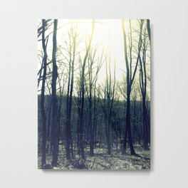 Darkly Looming Metal Print