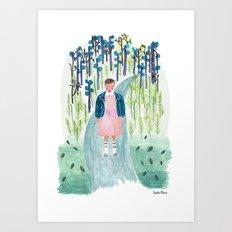 Stranger Things Eleven Art Print