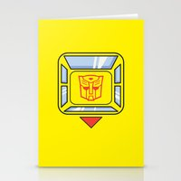 transformers Stationery Cards featuring Transformers - Bumblebee by CaptainLaserBeam