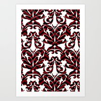damask Art Prints featuring Damask by Annie Skrmetti