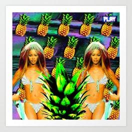 Pineapple Campbell Art Print
