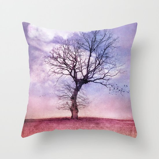 ATMOSPHERIC TREE | Early Spring Throw Pillow