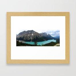 Peyto Lake Panorama Framed Art Print