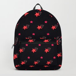 Shooting star Pattern Red Backpack