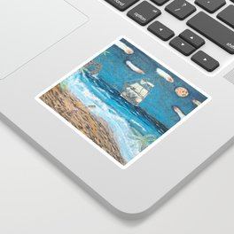 HMS Victory in paradise Sticker