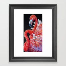 Flamingo Pair Framed Art Print