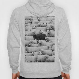 Different is 'Okay' Black Sheep of the Family black and white photograph Hoody