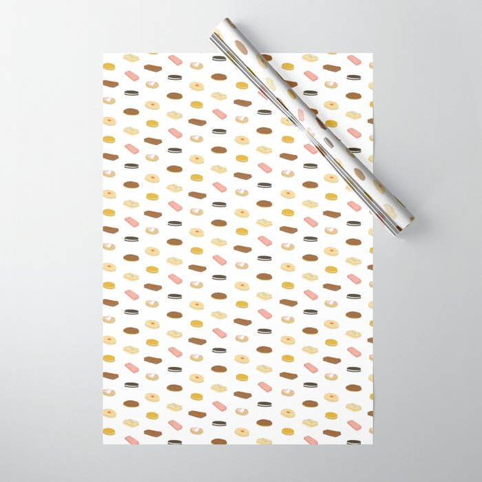 biscui - biscuit pattern Wrapping Paper