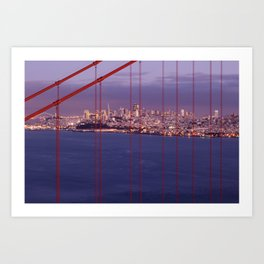 San Francisco through the Golden Gate Art Print