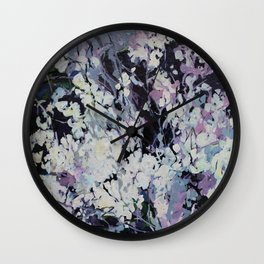 "''Flowers"" Wall Clock"