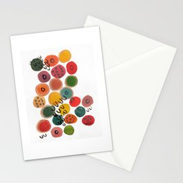 Rainbow Candy Dots Stationery Cards