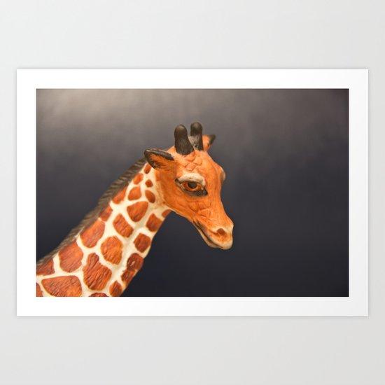 Giraffe My Pretty Art Print
