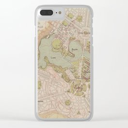 Lake Burley Griffin Clear iPhone Case