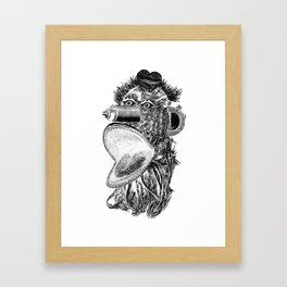 Frost Design Studio - Spray Can Monster (white) Framed Art Print