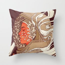 Breathing  Throw Pillow