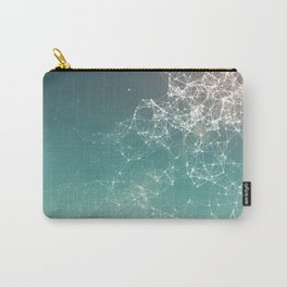 Fresh summer abstract background. Connecting dots, lens flare Carry-All Pouch