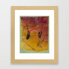 sauvage girl Framed Art Print