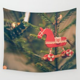 decor hanged on christmas tree Wall Tapestry