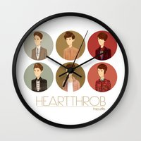 tegan and sara Wall Clocks featuring Tegan and Sara: Heartthrob collection by Cas.