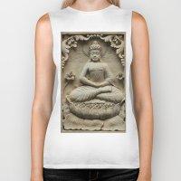 buddha Biker Tanks featuring Buddha by Falko Follert Art-FF77