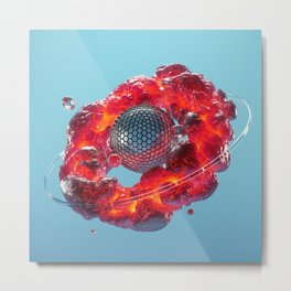 Lava Ring Metal Print